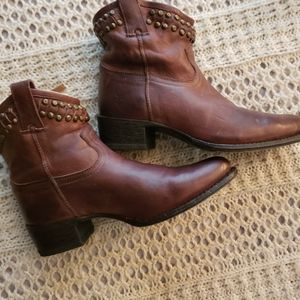 💞VINTAGE FRYE HARNESS LEATHER SHORT ANKLE BOOTS💞